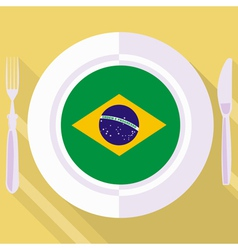 Kitchen of brazil vector