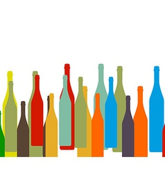 Bottle on background vector