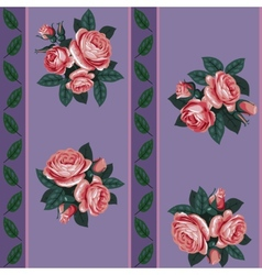 Red rose line seamless background vector
