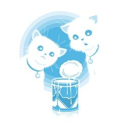 Kittens found milk vector