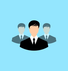 Avatar set front portrait office employee team for vector
