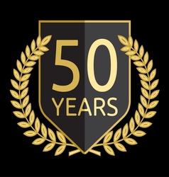 Laurel wreath 50 years vector