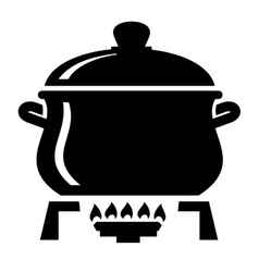 Cooking pan icon vector