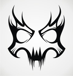 Skull mask tattoo design vector