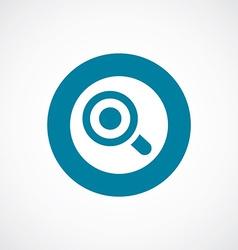 Magnifier eye icon bold blue circle border vector