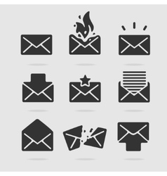 Icon set mail vector