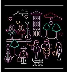 Street musicians vector