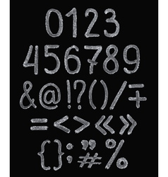 Chalk hand drawing alphabet vector