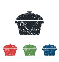 Pan grunge icon set vector
