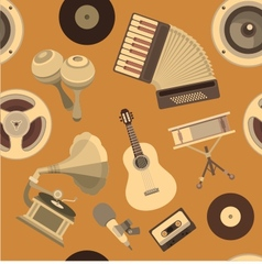 Seamless pattern musical instruments vector