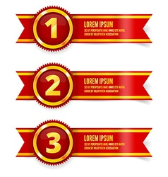 Red and gold ribbon vector
