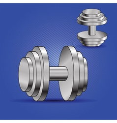 Two dumbbells vector