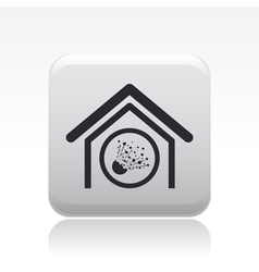 Explosive house icon vector