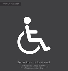 Cripple premium icon white on dark background vector