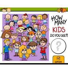 Counting education game cartoon vector