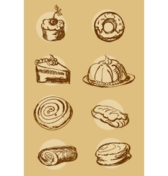Cake bakery vector