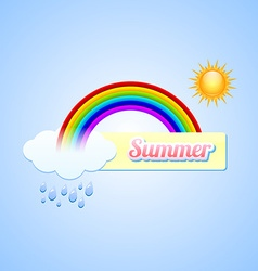 Summer button vector