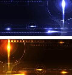 Stylized glowing backgrounds in wide-screen format vector