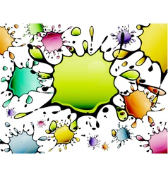 Abstract color paint droplets vector