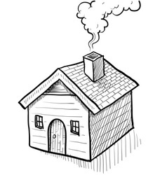 Doodle house home vector