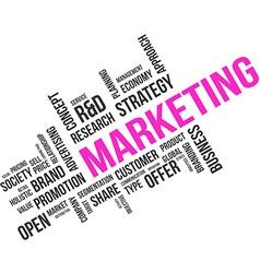Word cloud marketing vector