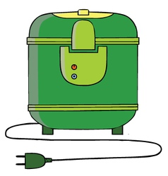 Rice cooker cartoon vector