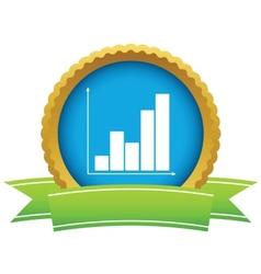 Gold chart logo vector