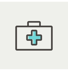 First aid kit thin line icon vector