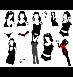 Sexy woman elements vector