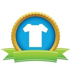 Gold tee shirt logo vector
