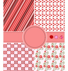 Greeting patterns vector