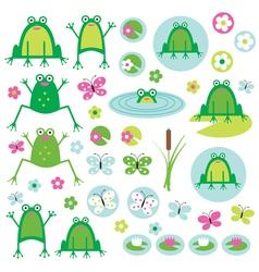 Frogs vector