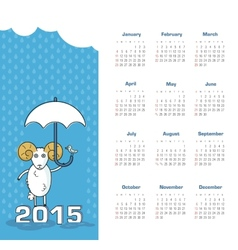 Calendar 2015 year with sheep vector