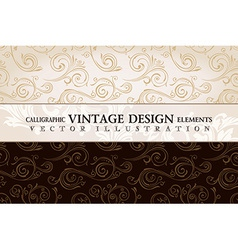 Vintage wallpaper gift wrap floral background with vector