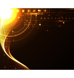 Stylized glowing background with digital symbols vector
