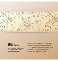 Sepia vine label vector