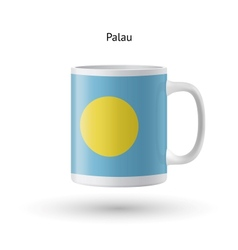 Palau flag souvenir mug on white background vector