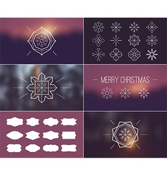 Christmas retro vintage card vector