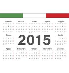 Italian circle calendar 2015 vector