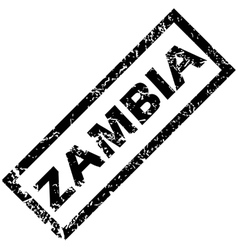 Zambia rubber stamp vector