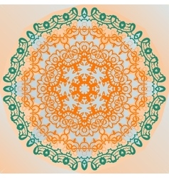 Ornate mandala design yoga karma yantra banner vector