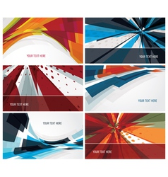 Set of modern colorful business cards vector