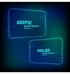 Glowing frames against dark background vector