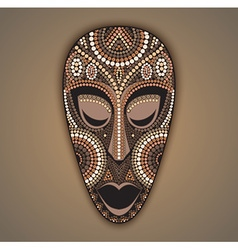 Colorful african mask vector
