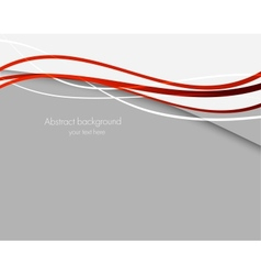 Abstract background with red lines vector