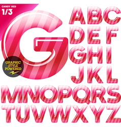 Multicolor children candy alphabet vector