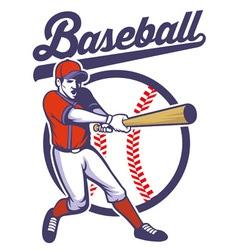 Baseball player hitting the ball vector