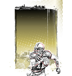 American football poster background vector
