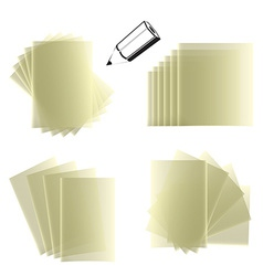 Notepad set vector