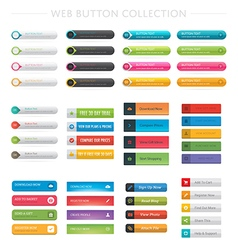 Web button collection vector